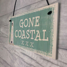 Gone Coastal Shabby Chic Sign Summer Nautical Plaque Beach Seaside Home GIFTS