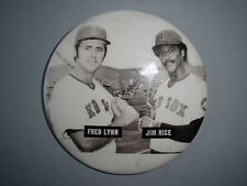 Rare Fred Lynn Jim Rice Red Sox 1975 Vintage Orig 3 Inch Pin Back Button Badge