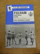 25/01/1969 West Bromwich Albion Fulham v [FA Cup] [Autografiado en línea-ups por: R