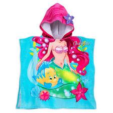 NWT DISNEY STORE Ariel Towel Hooded poncho Beach Bath The Little Mermaid Princes