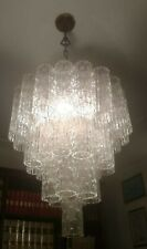 VENINI BIG CHANDELIER TUBE GLASSES 1960