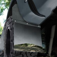 Husky 17100 KickBack Mud Flaps Black Top & Stainless Weight Chevy Silverado 1500