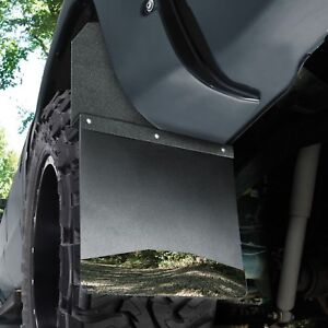Husky 17100 KickBack Mud Flaps Black Top & Stainless Weight Chevy GMC Ram Ford