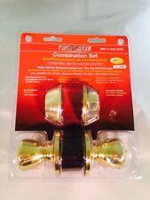 Door Lock Deadbolt Set Toolbasix Combination Set Single Cylinder Solid brass NEW