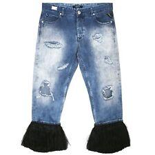 21770 REPLAY 3//4 Damen Jeans Hose GRACELLY WX668 boyfit Denim blue dest blau