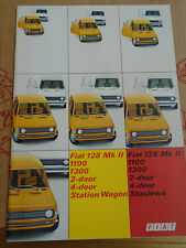Fiat 128 MKII range brochure c1970's South African market English & Afrikaans
