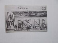 CARTOLINA SICILIA MESSINA SALUTI DA VEDUTINE