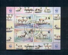 Niger #986b (1998 scarce WWF sheet) VF used on first day; CV $35.00