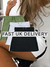 Reino Unido Mujer-Damas Mini Falda De Tela De Jersey - - - Gimnasio Pantalones Cortos de desgaste