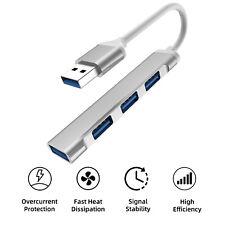 4-Port USB 3.0/2.0 Aluminum Hub Splitter Multi Adapter High Speed For PC Laptop