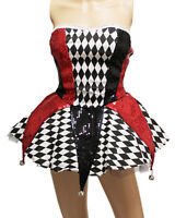 Circus Clown Costume Style Dress w/Small Bells For Halloween Cosplay