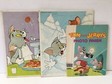 Vintage 1969 Tom and Jerry MGM Tray Frame Puzzles Golden Press Photo Finish Book