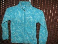 Columbia blue fleece jacket XS 6/6X girls polyester full zip