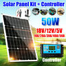 50W Watt 12V-18V Solar Panel Battery Charger Grid Car Motorhome RV Boat