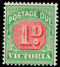 AUSTRALIA - Victoria SGD12a, 1d pale scarlet & yellow-green, M MINT.