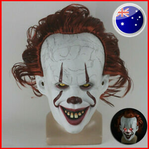 Stephen King's It Mask Pennywise Clown Mask Halloween Party Scary Mask Cosplay
