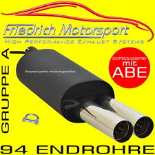 FRIEDRICH MOTORSPORT SPORTAUSPUFF Mazda 3 Schrägheck BK 1.4 1.6 2.0 MZR+MZ-CD