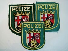 More details for set of 3 german polizei sleeve patches from rhineland-palatinate region
