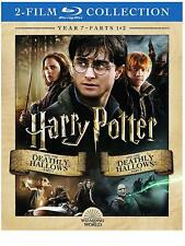 NEW W/SLIP HARRY POTTER DEATHLY HALLOWS PART 1 & 2 COMPLETE YEAR 7 BLU RAY