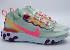 NIKE REACT ELEMENT 55 RUNNING TRAINERS - BQ2728-303 WOMEN UK5.5 7 EUR39 41