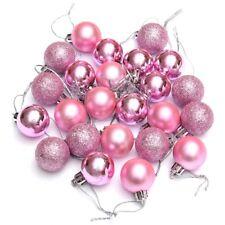 24Pcs Chic Christmas Baubles Tree Plain Glitter XMAS Ornament Ball Decorati BX