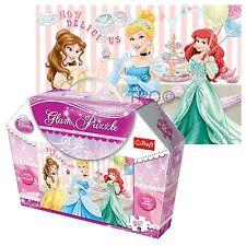Trefl 50 pièces glam glitter filles princesses parti jigsaw puzzle coffret cadeau nouveau