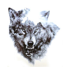 Waterproof 3D Wild Cool Wolf Tattoo Temporary Stickers Animals Body Art  Design