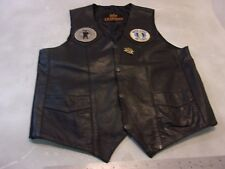 HOT LEATHERS MEDIUM M MOTORCYCLE VEST HARLEY AIR FORCE PATCH PIN