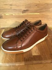 Cole Haan Men Brown British Tan Leather Lace Up Berkley Casual C30745 New no box