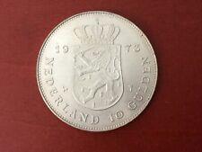 10 Gulden Niederlande 1973 Silber