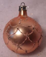 VINTAGE GLASS CHRISTMAS TREE ORNAMENT FEATHER TREE SWAG DARKENED MICA GLITTER