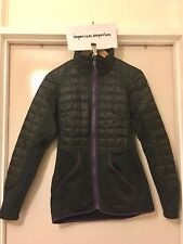 Women's Patagonia Hybrid Down Fleece Jacket Black/Purple Size X-Small (XS)