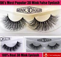💙3D Mink Natural Thick False Fake Eyelashes handmade  Lashes Makeup Extension
