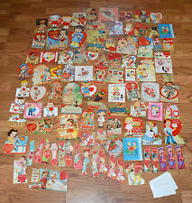 1938-1942 Bright Colorful Valentines Valentine Cards + 1960's 19 Unused 92 Total