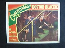 CONFESSIONS OF BOSTON BLACKIE '41 CHESTER MORRIS AS BLACKIE WITH GUN LC