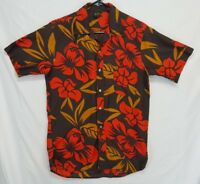 Vtg Mens S HAWAIIAN HOLIDAY Floral Aloha shirt SMALL