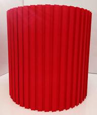 Lampenschirm E27 Stehleuchte Hängeleuchte Textil Baumwolle Ø30 rot Plissee