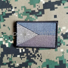 PHILIPPINES FILIPINO FLAG BADGE ARMY TACTICAL MORALE EMBROIDERED PATCH GRAY BLUE