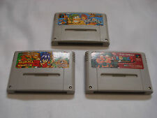 Joe et mac 1 2 3 Super Famicom SNES japon tatakae genshijin clean carts