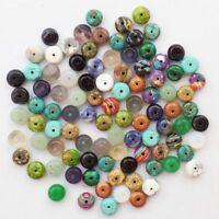 60pcs [8x5mm] mixed Jasper Rondelle Pendant Bead A30358