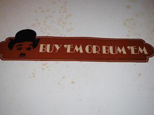 SCARCE Charlie Chaplin Buy 'Em or Bum 'Em Sticker (Brown Williamson Tobacco Co)