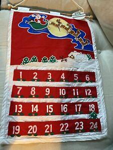 "Kurt Adler 20"" Countdown Advent Calendar 24 Pockets w/ Xmas Tree NWT"