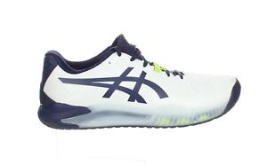 ASICS Mens Gel-Resolution 8 White/Peacoat Running Shoes Size 10.5 (Wide)
