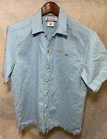 Blue Button Down Columbia Sportswear Mens Med M Short Sleeve