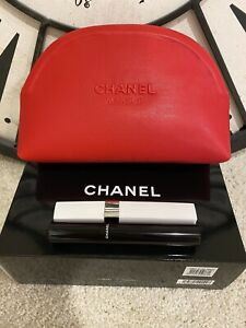 CHANEL The Eyes Have It Primer And Mascara Set With Red Cosmetic Bag