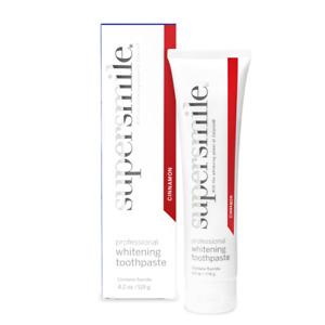 SUPERSMILE WHITENING TOOTHPASTE 119g (Cinnamon) Bad Breath Halitosis Teeth