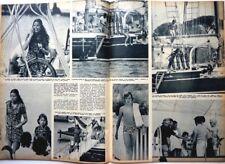CAROLINE DE of MONACO => 3 pages 1972 SPANISH CLIPPING / COUPURE DE PRESSE