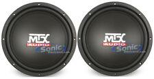 "New (2) MTX Audio Terminator TN12-02 12""inch 800 Watt 2 Ohm Car Subwoofers Subs"