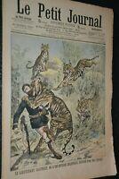 Le petit journal Supplément illustré N°825 / 9-9-1906 / Dévoré par des tigres