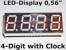 "1, 2, 5 Stck. LED-Display 4Digit 7Segment 0,56"" +Clock 12pin Common Cathode Rot"